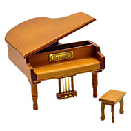 Music Box Piano Holiday Supplies Wood Unisex