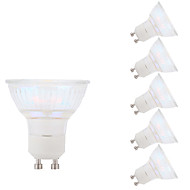 3W GU10 LED-spotpærer MR16 1 COB 250 lm Varm hvit AC 100-240 V 6 stk.