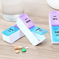 1 sæt Pilleboks/etui til rejsebrug Rejse-førstehjælpskasse Fugtsikker Vandtæt Bærbar Ikke giftig Opbevaring under rejser Rejseservice for