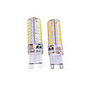 3W G9 LED betűzős izzók T 64 SMD 2835 550-650 lm Meleg fehér Fehér Dekoratív AC 220-240 AC 110-130 V 2 db.
