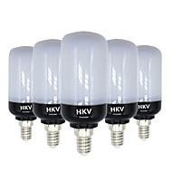 HKV® E14 E26/E27 8W 81 LED 5736 SMD 700-800Lm Warm White Cold White LED Corn Lights AC 220-240 V 5Pcs