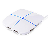 6 θύρες USB υψηλής ταχύτητας διανομέας πλήμνης tf / sd κάρτα πολύχρωμο φως μέγιστη υποστήριξη 2t σκληρό δίσκο