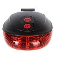 Fiets led achterlicht veiligheids waarschuwingslicht 5 led2 laser nacht mountainbike achterlicht staart lichtlicht bijcicle licht