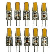 1.5W G4 LED Bi-pin Lights T 1 COB 250 lm Warm White White Decorative AC220 V 10 pcs