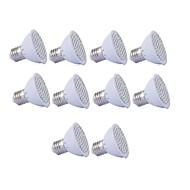 1.5W GU10 GU5.3 E27 Lampy szklarniowe LED MR16 36 SMD 2835 250 lm Czerwony Niebieski AC110 AC220 V 10 sztuk