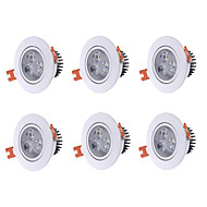YouOKLight 6PCS 3W 250Lm AC100-240V 3*LEDs Warm White 3000K Downlight Ceiling Lamp - White
