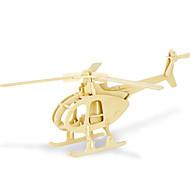 παζλ Παζλ 3D Δομικά στοιχεία DIY παιχνίδια Ελικόπτερο 1 Ξύλο