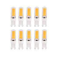 3W E14 G9 G4 LEDコーン型電球 T 1 COB 280 lm 温白色 ホワイト 明るさ調整 交流220から240 V 10個