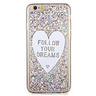 Apple iphone7 7 plus suojus kuvio takakansi tapauksessa glitter kiiltoa sana / lause heart pehmeä TPU 6s plus 6 plus 6s 6