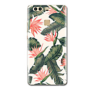 For Etuier Ultratyndt Mønster Bagcover Etui Blomst Blødt TPU for HuaweiHuawei P9 Huawei P9 Lite Huawei P9 Plus Huawei P8 Huawei P8 Lite
