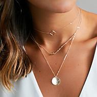 Női Rövid nyakláncok Rakott nyakláncok Ékszerek Ötvözet Alap Arany Ezüst Ékszerek MertEsküvő Parti Születésnap Napi Hétköznapi Sport
