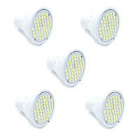 3W GU10 GX5,3 LED-kohdevalaisimet MR16 48 SMD 2835 300 lm Lämmin valkoinen Kylmä valkoinen Koristeltu AC 220-240 V 5 kpl