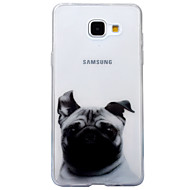 For IMD Transparent Mønster Etui Bagcover Etui Hund Dyr Blødt TPU for Samsung A3 (2017) A5 (2017) A5(2016) A3(2016)
