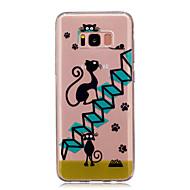 Mert Átlátszó Minta Case Hátlap Case Cica Puha TPU mert Samsung S8 S8 Plus S5 Mini S4 Mini