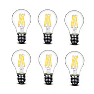 ® Shenmeile 5.5W E27 LED Filament Bulbs A60(A19) 8 COB 700 lm Warm White Decorative AC220 AC230 AC240 V 6 pcs
