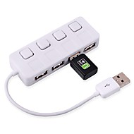 ultradunne 2,0 naaf 480 Mbps USB 4 poorten hub splitter adapter voor pc laptop