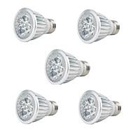 5W E27 Lampy szklarniowe LED PAR20 5 High Power LED 350 lm Czerwony Niebieski Dekoracyjna AC 85-265 V 5 sztuk