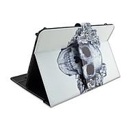 Na Etui Pokrowce Z podpórką Z klawiaturą Flip Wzór Futerał Kılıf Czaszki Kwiaty Twarde Sztuczna skóra na AppleIPad 10.5 iPad (2017) iPad