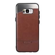 Samsung Galaxy S8 ja S7 tapauksessa peitä tikku nahan kanssa kiinni metalli kotelot matkapuhelimille S6 reuna S6