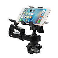 Cellphone Bike Holder Stand Mount 360° Rotation 2in1 Bicycle Flashlight Motorcycle Outdoor Handlebar Adjustable Stand