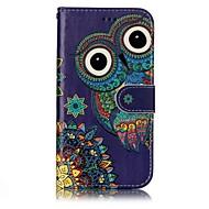 Samsung Galaxy a3 (2017) a5 (2017) suojus kortin haltija lompakon kohokuvio kokovartalo tapauksessa pöllö kova PU nahka