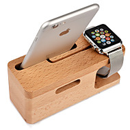 Teqi Watch Stand for Apple Watch Series 2  iPhone7 7lus 6s 6 lus 5 5c 5s 4 4s Wooden 38mm / 42mm No Data Line