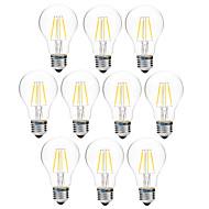 4W Izzószálas LED lámpák A60(A19) 4 COB 300 lm Meleg fehér Fehér Tompítható V 10 db.