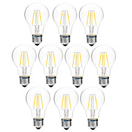 4W LED필라멘트 전구 A60(A19) 4 COB 300 lm 따뜻한 화이트 화이트 밝기조절가능 V 10개