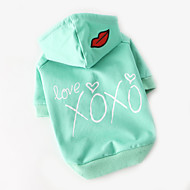 Hund T-shirt Hundkläder Gulligt Ledigt/vardag Tecknat Rosa ljusgrön