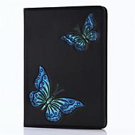 Dla ipad 2017 9,7inch luksusowych oryginalnych skórzanych pokrowców okładki wytłoczony wzór 3d cartoon motyl przypadku dla ipad air2 /