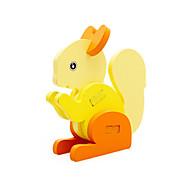 Legpuzzels 3D-puzzels Bouw blokken DHZ-speelgoed Eekhoorn Hout Modelbouw & constructiespeelgoed