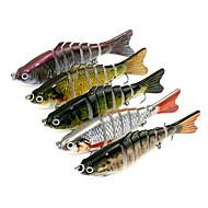 5 τεμ Jerkbaits Minnow ζ/Ουγκιά,10cm mm ίντσαΘαλάσσιο Ψάρεμα Περιστρεφόμενο Ψάρεμα Πέρκας Ψάρεμα με Δόλωμα Γενικό Ψάρεμα Ψάρεμα