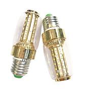 7W E14 E27 Żarówki LED kukurydza 60 SMD 2835 600 lm Ciepła biel Biały AC 220-240 V 2 sztuki