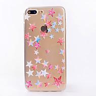 Para el iphone 7 7 más caso transparente de la contraportada del caso de la caja cubierta suave geométrica del caso para el iphone 6s 6