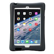 Apple iPad 4/3/2 tapauksessa kattaa iskunkestävä jalustalla lapsille turvallinen koko kehon tapauksessa yksivärinen pehmeä silikoni EVA