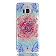 Til samsung galaxy s8 plus s8 tilfælde tpu materiale blonder blomster mønster relief telefon taske s7 kant s7 s6 s5
