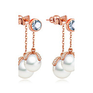 Dame Øreringe sæt Smykker Unikt design Mode Euro-Amerikansk Perle Zirkonium Legering Smykker Smykker TilBryllup Fødselsdag Fest & Aften