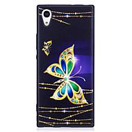 Sony Xperia XA1 XZ suojus perhonen malli maalattu kohokuvioitu tuntuu TPU pehmeä tapaus puhelinkotelo