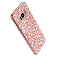 Til Samsung Galaxy S8 Plus S8 Cover Case 3D Diamant Design Cover Cover Solid Farve Soft TPU S7 Kant S7