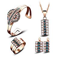Žene Svadbeni nakit Setovi Kristal Kubični Zirconia Moda Euramerican Jewelry Za Vjenčanje Party Zabave Svakodnevica Vjenčanje Pokloni
