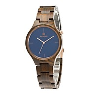 男性用 腕時計 ウッド 日本産 クォーツ 木製 ウッド バンド エレガント腕時計 ラグジュアリー ブラウン カーキ