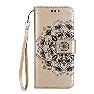 Obudowa do huawei p10 p10 plus uchwyt na karty portfel z wytłoczonym wzorem futerał na telefon mandala kwiatowy pu do skóry huawei p10