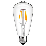 저장 4w E27의 ST64 빈티지 주도 에디슨 전구의 필라멘트 전구 에너지 4w LED- 40w 상당 (220-240V)