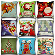 1 stk Katoen/Linnen Kussenhoes Kussensloop,Nieuwigheid Klassiek Kerstmis Klassiek Retro Traditioneel /Klassiek Neoklassiek Kerstmis
