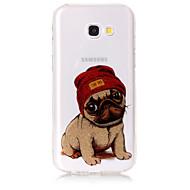 Hoesje voor Samsung Galaxy a5 (2017) a3 (2017) telefoon hoesje tpu materiaal imd proces hondenpatroon hd flash poeder telefoon hoesje