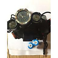 조명 헤드램프 자전거 라이트 LED 5000 루멘 4.0 모드 Cree XM-L T6 18650 방수 충전식 충격 방지 캠핑/등산/동굴탐험 일상용 경찰/군인 사이클링 사냥 일 등산 여행 알루미늄 합금