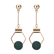 Damskie Kolczyki wiszące Pearl imitacja Modny minimalistyczny styl Imitacja pereł Stop Circle Shape Geometric Shape Biżuteria Na