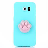 Hoesje voor Samsung Galaxy S7 S7 Rand Squishy Diy Stress Reliëf Case Achterhoes Hoesje Cute 3D Cartoon Zachte TPU Hoesje voor Samsung