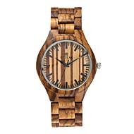 男性用 腕時計 ウッド 日本産 クォーツ 木製 ウッド バンド エレガント腕時計 ラグジュアリー ブラック ブラウン