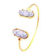 Mulheres Pulseiras Algema Jóias Moda Jóias filme Hipoalergênico Chapeado Dourado Aço Inoxidável Liga Formato Oval Jóias ParaFesta Dia a